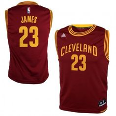 7d48287f0 Youth Cleveland Cavaliers LeBron James adidas Garnet Replica Road Jersey Lebron  James Kids