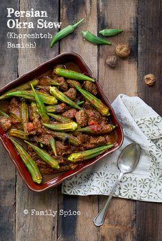 A wonderful way to showcase okras is with this delicious Persian Okra Stew (Khoreshteh Bamieh).