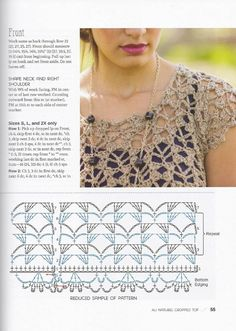 Cetona - Crochet this womans openwork sleeveless top from Rowan Knitting & Crochet Magazine a design by Lisa Richardson using Revive (silk cotton and viscose) and Pure Linen Linen) with a v-neck and multi coloured stripes. This crochet pattern ha Débardeurs Au Crochet, Gilet Crochet, Crochet Tunic, Crochet Diagram, Freeform Crochet, Crochet Chart, Crochet Clothes, Crochet Doilies, Crochet Ideas