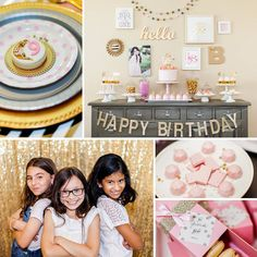 For her daughter's Modern Pink & Gold Birthday Party