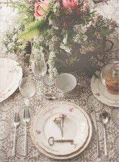 Vintage tablescape ideas. Event Stylist: Michael Productions