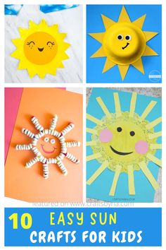 We have a collection of 10 easy sun crafts for kids to celebrate spring or summer season. These adorable sun crafts are perfect to do with toddlers, preschoolers, kindergarteners, and even for school projects. You will find beautiful doily sun craft, kindness-themed sun craft, paper plate sun crafts, and many more!
