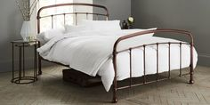 Buy Shoreditch Metal Single Bed Metal Copper from the Next UK online shop