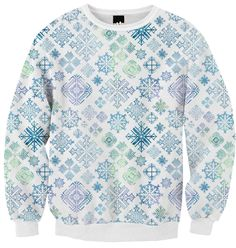 MorningSnowflakes ribbed deluxe sweatshirt from PAOM...SpiceTree @ Print All Over Me.