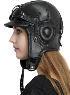 Winter Leather Jackets, Leather Hats, Leather Pouch, Leather Craft, Head Accessories, Leather Accessories, Leather Gifts For Her, Steampunk Couture, Aviator Hat