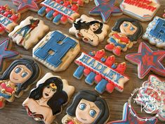 It's a Wonder Woman kind of birthday! #andykayscookies #cookies #sugarcookies #decoratedcookies #customcookies #cookiesofinstagram…