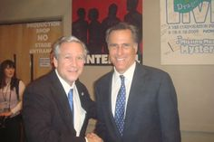 Mitt Romney and John C. Morgan as George W. Bush