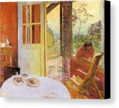 Dining Room In The Country Canvas Print featuring the painting Dining Room In The Country by Pierre Bonnard