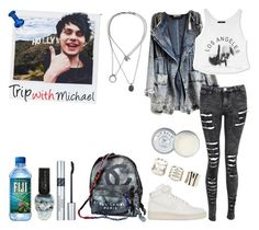 """""""◔ Trip with Michael Clifford ◔"""" by sarkata-boo-bear ❤ liked on Polyvore featuring Maison Margiela, Charlotte Russe, NIKE, Forever 21, Jack Wills, Chanel, Polaroid and Christian Dior"""