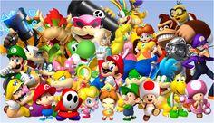 Mundo Super Mario, Super Mario Bros Games, Super Mario Art, Mario Coloring Pages, Mario Birthday Party, Japanese Games, Mario Bros., Gaming Wallpapers, Donkey Kong