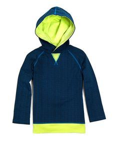 Take a look at this Blue & Lime Antonio Organic Hoodie - Toddler & Boys by Soft Clothing on #zulily today!