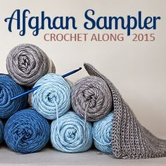 Crochet Along Afghan Sampler 2015 | The Inspired Wren  ༺✿ƬⱤღ http://www.pinterest.com/teretegui/✿༻
