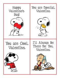 FREE Printable Peanuts Valentines Featuring Snoopy