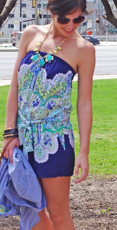 Lilly Pulitzer Colleen Romper worn by Brynn There Wore That