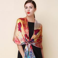 Back To Search Resultsapparel Accessories Straightforward Marte&joven Fashion Small Floral Embroidery Oversized Chiffon Scarf Shawls Women Spring&summer Soft Sunscreen Pashmina Wraps