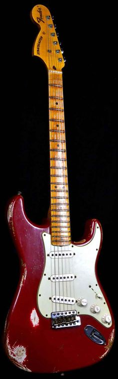 "Fender 1969 Stratocaster Heavy Relic ""U"" Dakota Red w/ Reverse Headstock - Wild West Guitars"
