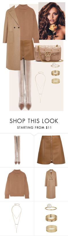 """Untitled #169"" by iconicme ❤ liked on Polyvore featuring Casadei, Mansur Gavriel, Harris Wharf London, GUESS by Marciano, Miss Selfridge and Gucci"