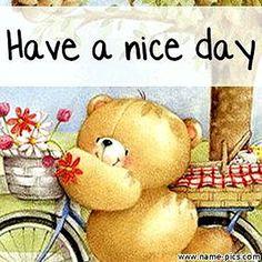Forever friends - have a nice day Good Morning Greetings, Good Morning Good Night, Good Morning Images, Teddy Bear Cartoon, Cute Teddy Bears, Tatty Teddy, Happy Weekend, Happy Day, Teddy Beer