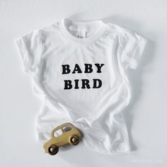 Baby Bird T-shirt by The Bee & The Fox, a perfect match to our Mama Bird Tee! Super soft and oh so cute - a definite must-have gift for a new mom-to-be!