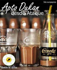 Cacaolat 0% apto dieta Dukan desde Ataque (y también para la Escalera Nutricional, la nueva dieta Dukan) Stevia, Dukan Diet, Clean Eating, Low Carb, Ice Cream, Mugs, Healthy, Tableware, Recipes
