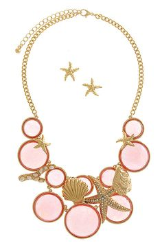 Life On The Shore Necklace (Coral) I found this on www.rmcjewelry.com