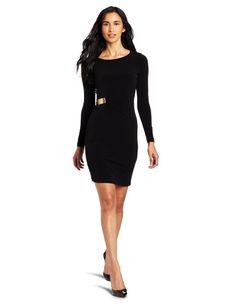 Calvin Klein Women's Long Sleeve Matte Jersey Dress, Black, 4 Black Dress With Sleeves, Black Long Sleeve Dress, Dress Long, Dress Black, Dress Sleeves, Lace Dress, Short Dresses, Calvin Klein, Womens Fashion Casual Summer