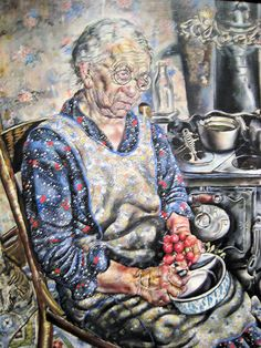 The Farmer's Kitchen painting (by Ivan Albright) from the 1934 New Deal for…