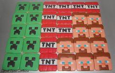 Mine craft cookies Mind Craft Birthday Party, Birthday Cookies, Birthday Parties, 8th Birthday, Birthday Ideas, Minecraft Cookies, Minecraft Cake, Minecraft Party, Cartoon Cookie
