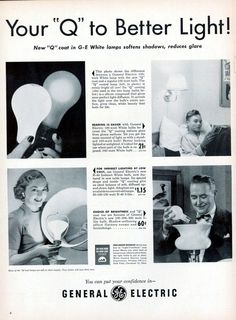 General Electric Your Q To Better Light New Q Coat In GE White Lamps Softens Shadows