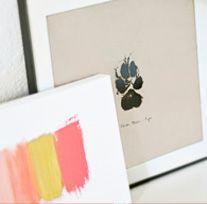DIY Paw Print Wall Art via @Modern Dog Mag #diy #dogdiy #craftprojects