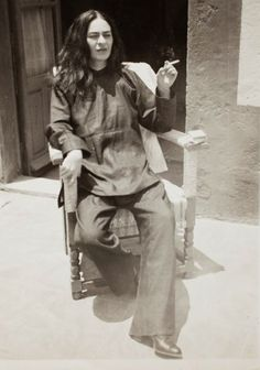 Frida Kahlo - I love this photo of her. It's so unlike most I have seen.
