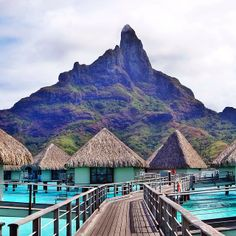 Another breathtaking view from Bora Bora. Photo courtesy of mthiessen on Instagram.
