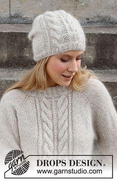 Knitting Stitches, Knitting Patterns Free, Knit Patterns, Free Knitting, Baby Knitting, Drops Design, Sky E, Knit Crochet, Crochet Hats