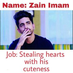 Why Sooooo cute Attitude Quotes For Girls, Girl Quotes, Crazy Funny Memes, Funny Facts, Badminton Photos, Dear Crush, Crazy Fans, Zain Imam, Tv Actors