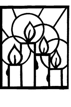 Stained Glass Candle Drawing · Art Projects for Kids- Christmas Sewing, Christmas Crafts For Kids, Christmas Activities, Christmas Colors, Kids Christmas, Christmas Decorations, Candle Drawing, Advent For Kids, Theme Noel
