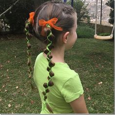 Adorable pumpkin inspired pigtails - easy to do, quick and not to crazy! Perfect for Halloween Holiday Hairstyles, Cute Hairstyles, Halloween Hairstyles, Christian Wife, Creative Hairstyles, Crazy Hair, Your Girl, Hair And Nails, Hair Care