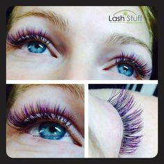 This week's Lash Artist is Amy Dommett with Aurora Lashes and Brows in Cullompton Devon England. In Amy's lash pic, she applied a full set of colored Faux Mink black and purple eyelash extensions C-curl with 9mm-12mm lengths. #eyelashextensions #lashartist #Beauty #lashextensions #falseeyelashes #beautysalon #lashstuff #eyelashextensions #volumelashes