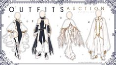 [Outfits Auction] Fantasy Outfits 17 - CLOSE - by QuinnyIlada on DeviantArt Anime Outfits, Cool Outfits, Vetements Clothing, Drawing Anime Clothes, Fashion Design Drawings, Vintage Fashion Sketches, Anime Dress, Character Outfits, Character Design Inspiration