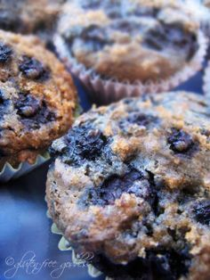vegan blueberry muffins that are gluten-free.  I altered this recipe a little but it is really moist and full of flavor.  A nice afternoon in the kitchen!