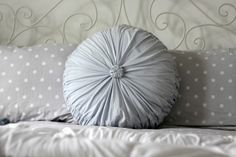Polka Dot Bedding...perfect for a beach cottage.