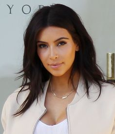THIS is how I want to cut my hair for Spring -- Kim Kardashian Cuts Hair Shorter for Spring -- Redbook