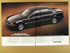 1995 bmw 7 #series 750il #sedan black car #photo vintage print ad, View more on the LINK: http://www.zeppy.io/product/gb/2/361647830045/