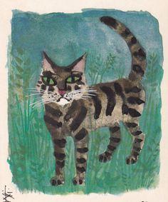 Cat by Celestino Piatti (1922-2007)