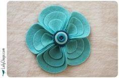 felt flower - DIY