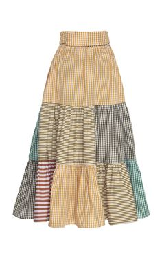 Talaigua Cotton Patchwork Skirt by Silvia Tcherassi Retro Outfits, Trendy Outfits, Cool Outfits, Fashion Sewing, Boho Fashion, Fashion Outfits, Patchwork Dress, Fashion Books, Feminine Style