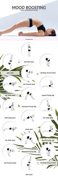"Beat stress and get happy with these mood-boosting <a class=""pintag"" href=""/explore/yoga/"" title=""#yoga explore Pinterest"">#yoga</a> poses."