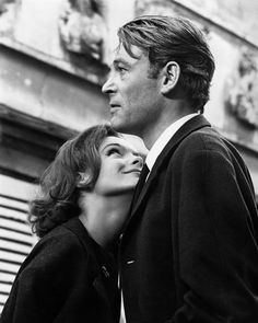 Peter O'Toole and Romy Schneider // the way she looks at him... :)