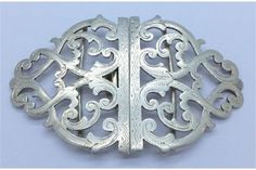 A Victorian silver buckle Chester 1898