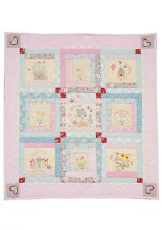 Rosette stitch :: Girls Own Stitching Club- Farmhouse Block. - Red Brolly