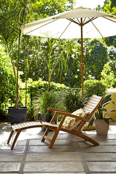 Make the most of the summer with this Longstock Steamer Chair, £399, from John Lewis